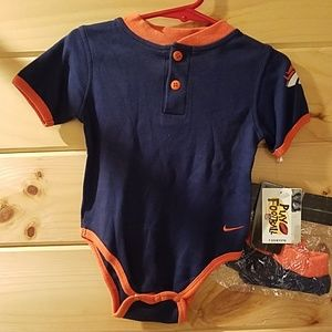 Nike Denver Broncos Onesie with Booties